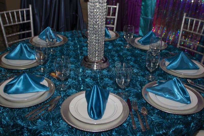 Elegant Modern Table Place Setting stock images