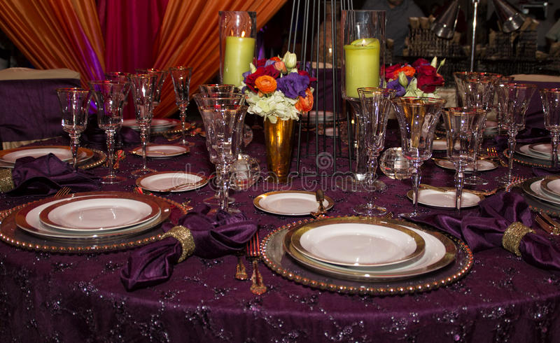 Elegant Modern Table Place Setting royalty free stock images