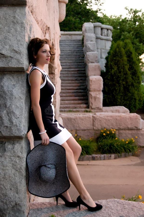 elegant modesolnedgång royaltyfri fotografi