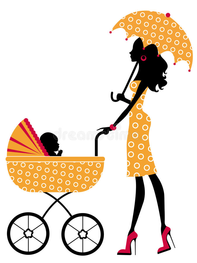Download Elegant mom stock vector. Image of beautiful, child, mother - 25348090