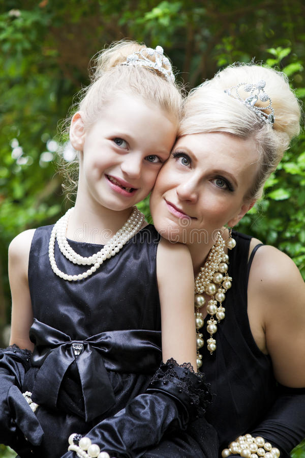 Elegant Mother & Daughter royalty free stock photos