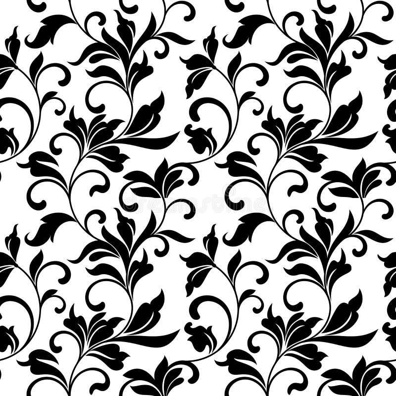 Elegant naadloos patroon met klassieke tracery op een witte achtergrond vector illustratie