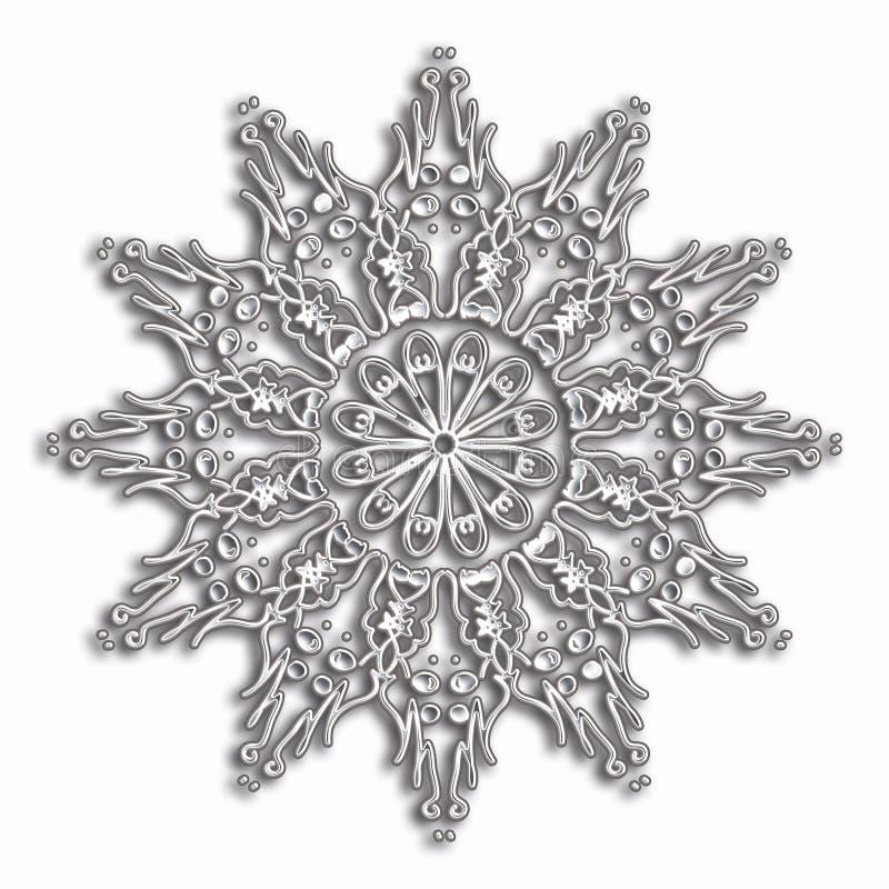 Elegant och mjukt snöra åt cirkelmodellen royaltyfria foton
