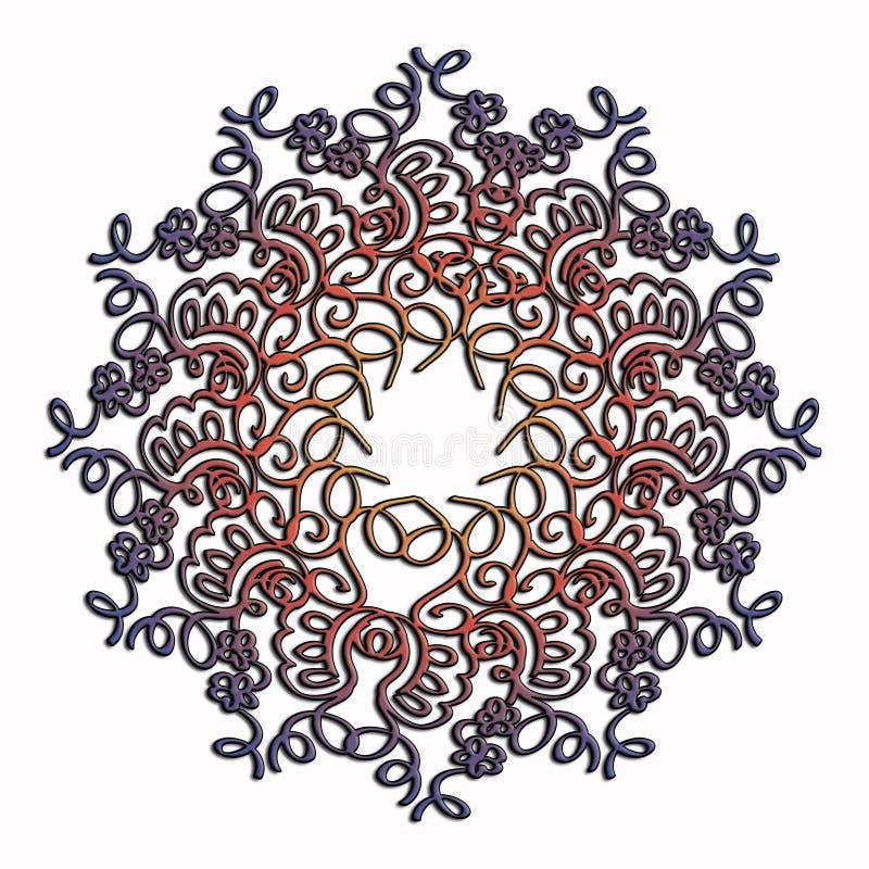 Elegant och mjukt snöra åt den flerfärgade cirkelmodellen arkivbilder