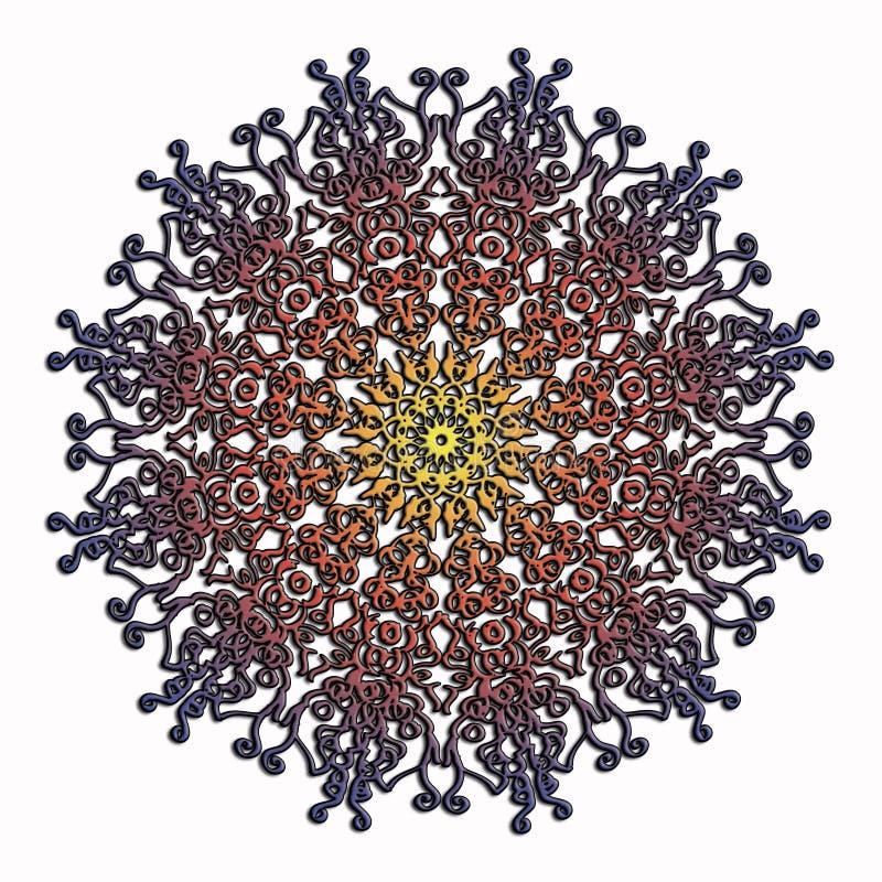 Elegant och mjukt snöra åt den flerfärgade cirkelmodellen royaltyfri bild