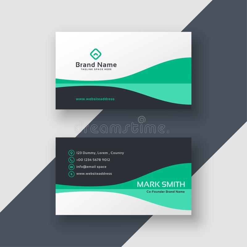 Elegant office business card design stock illustration