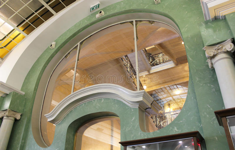 Elegant old building interior stock image