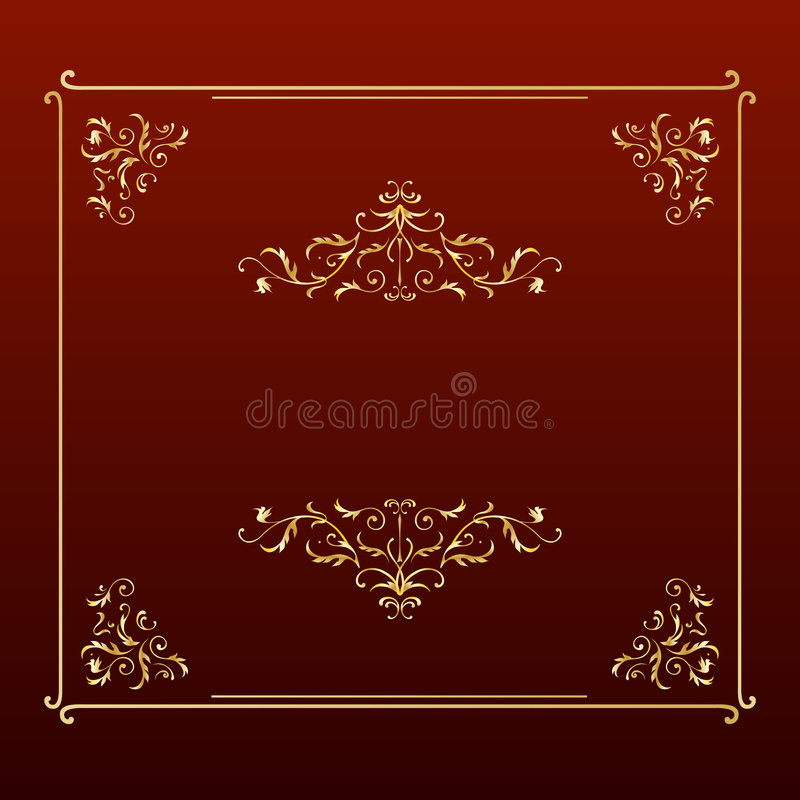 Elegant ontwerp vierkant frame royalty-vrije illustratie