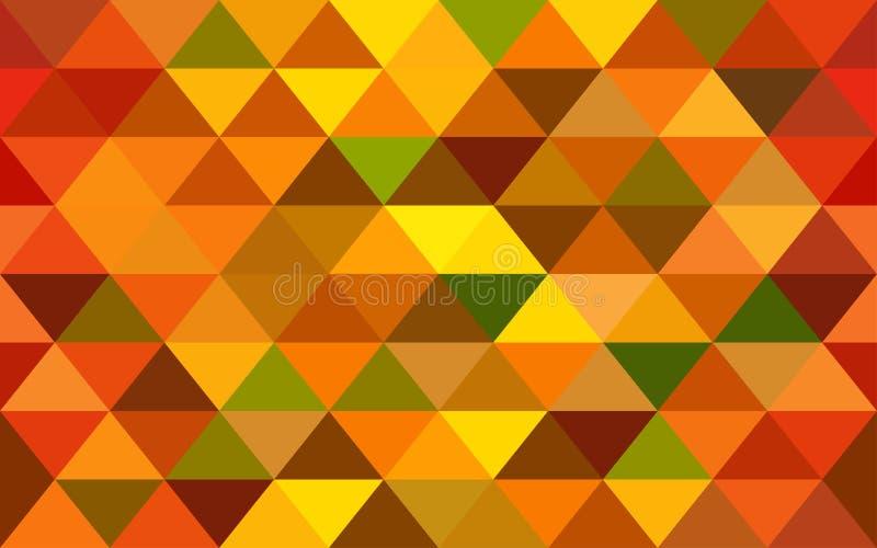Elegant oranje meetkunde naadloos patroon met driehoeken vector illustratie