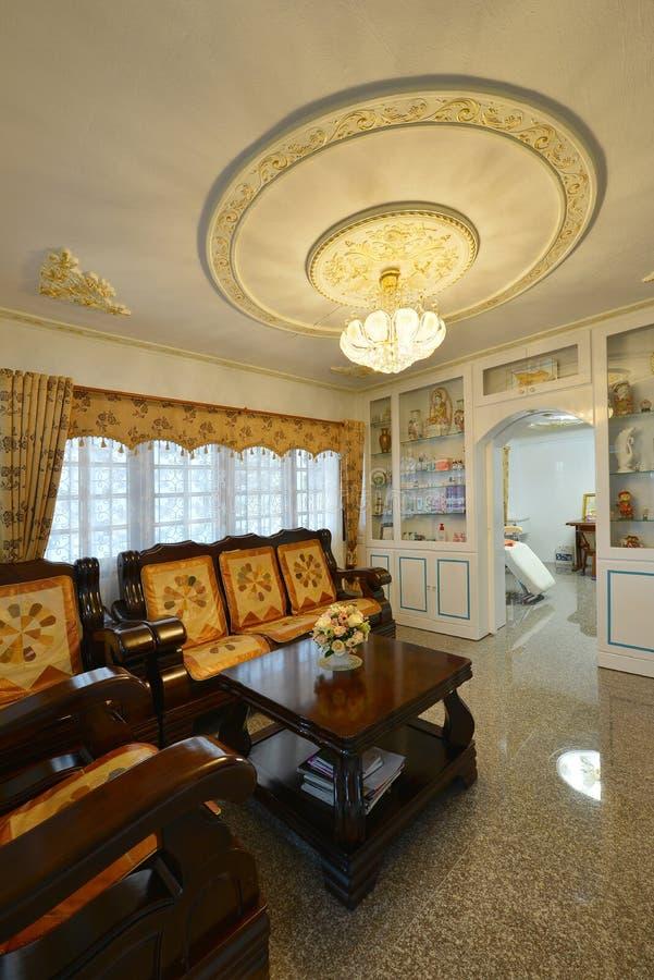 Elegant Oriental Classic Vintage Chinese Living Room, Interior Design.