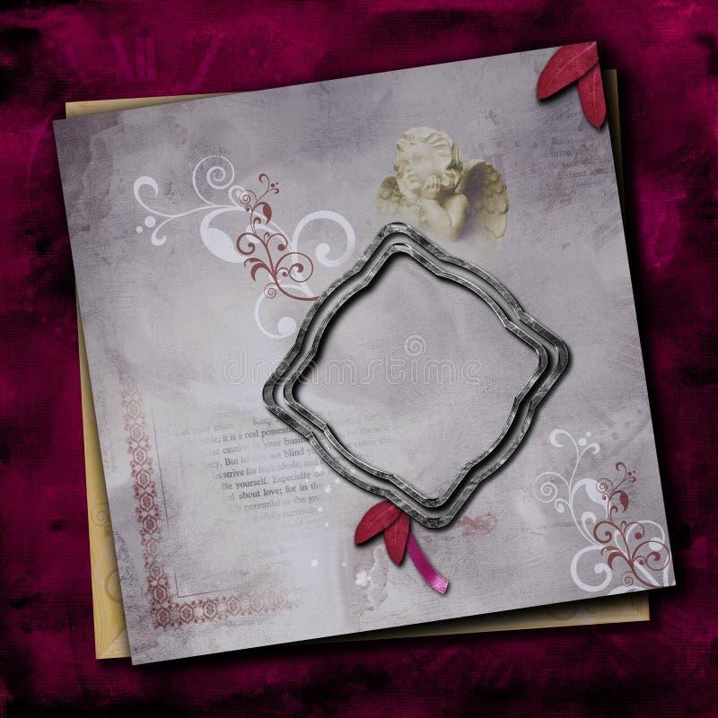 elegant orienteringssidaphotoframe quick royaltyfri bild
