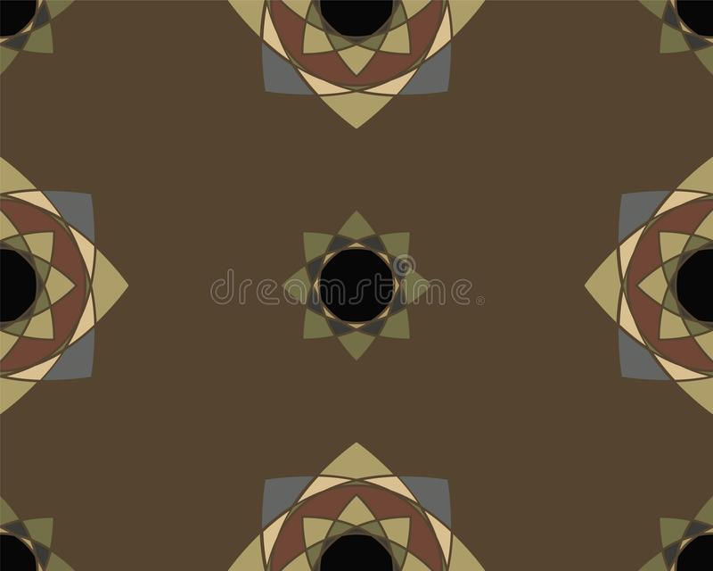Elegant Ornaments Geometric Mandala royalty free stock photography