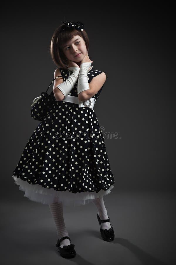 Elegant ouderwets gekleed meisje royalty-vrije stock foto