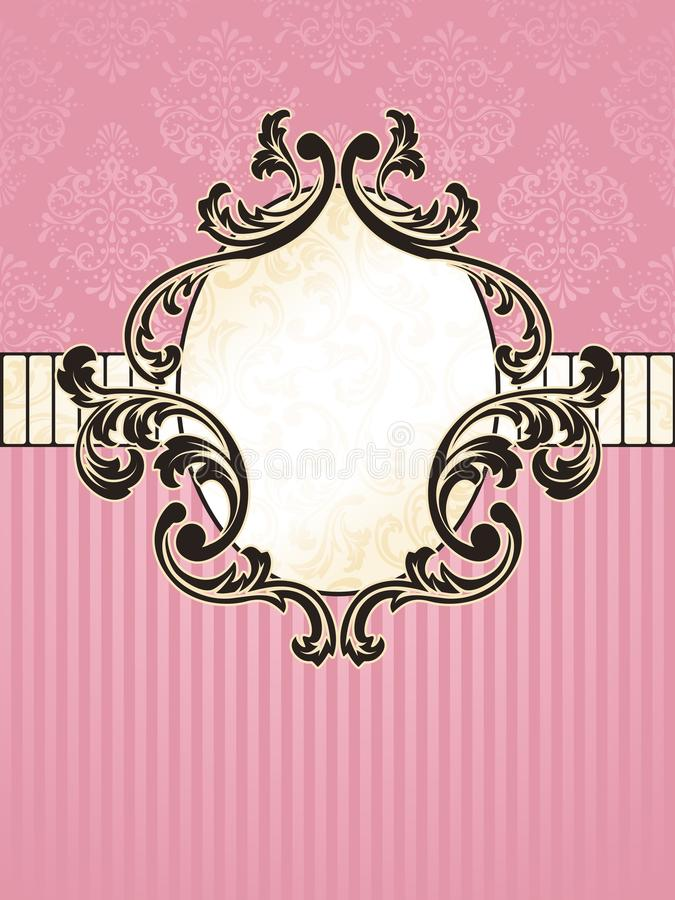 Download Elegant Oval French Vintage Label Stock Vector - Illustration of ornamental, antique: 13339965
