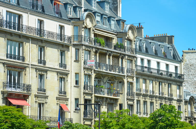 Elegant Parisian Apartment Buildings royalty free stock photos
