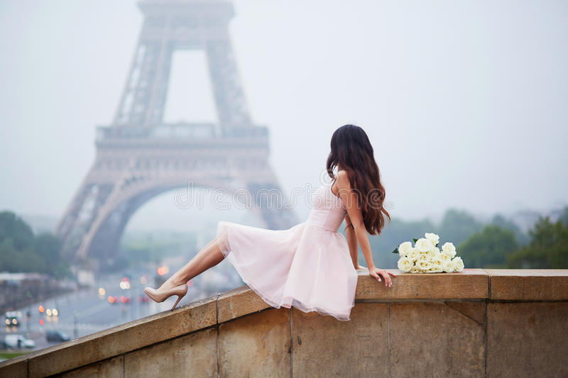 Elegant Parisian woman royalty free stock photography