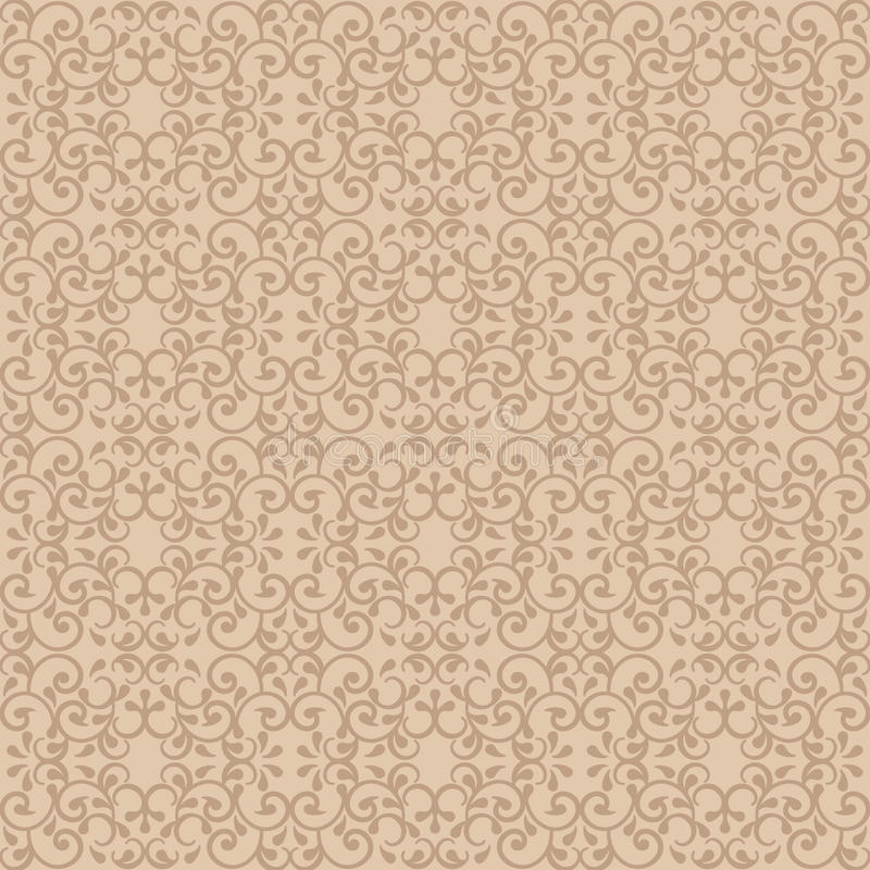 Elegant Patroon in Beige stock illustratie