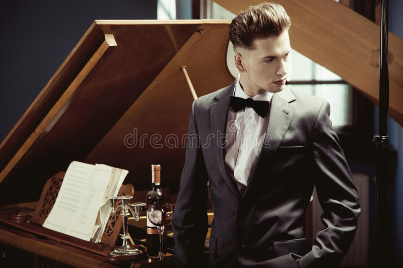 Download Elegant pianist stock image. Image of instrumental, classical - 24836661