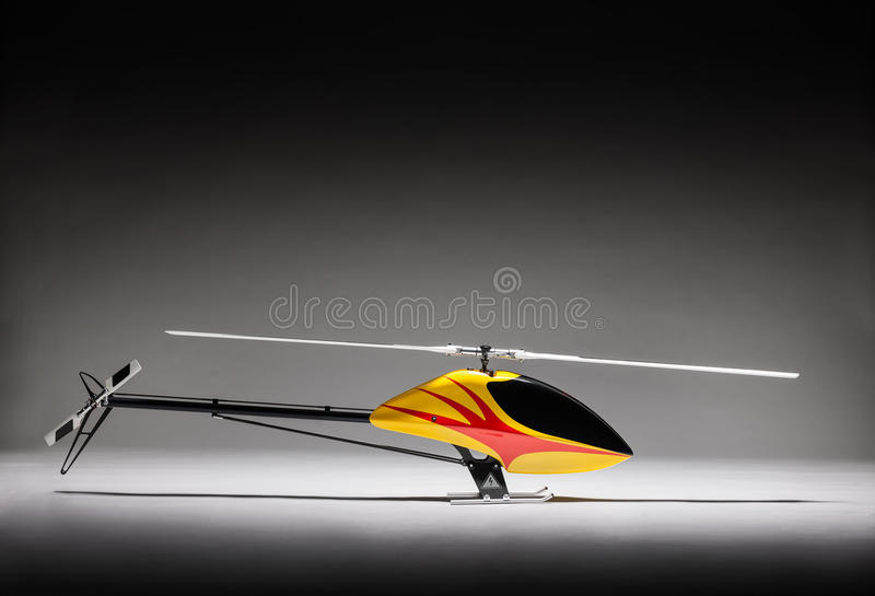 Elegant picture of remote control helicopter royalty free stock image