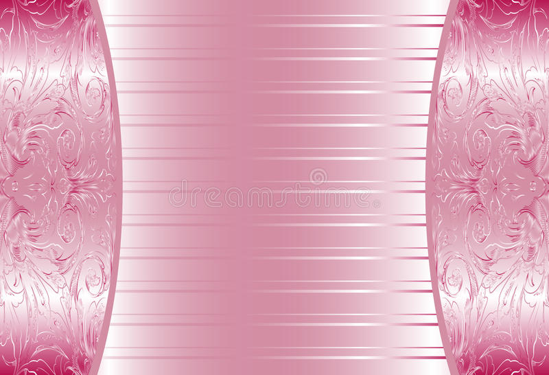 Download Elegant Pink Abstract Floral Wallpaper Seamless Stock Vector