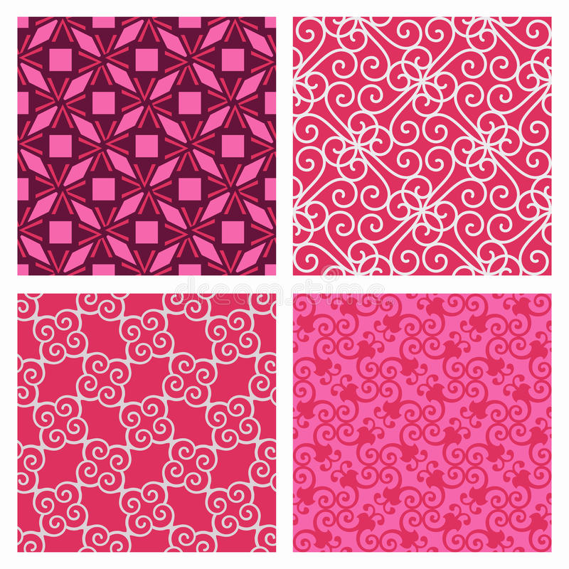 Free Elegant Pink Pattern Set Royalty Free Stock Photography - 22315207