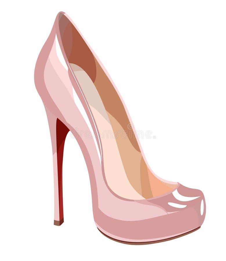 Elegant pink shoe vector illustration