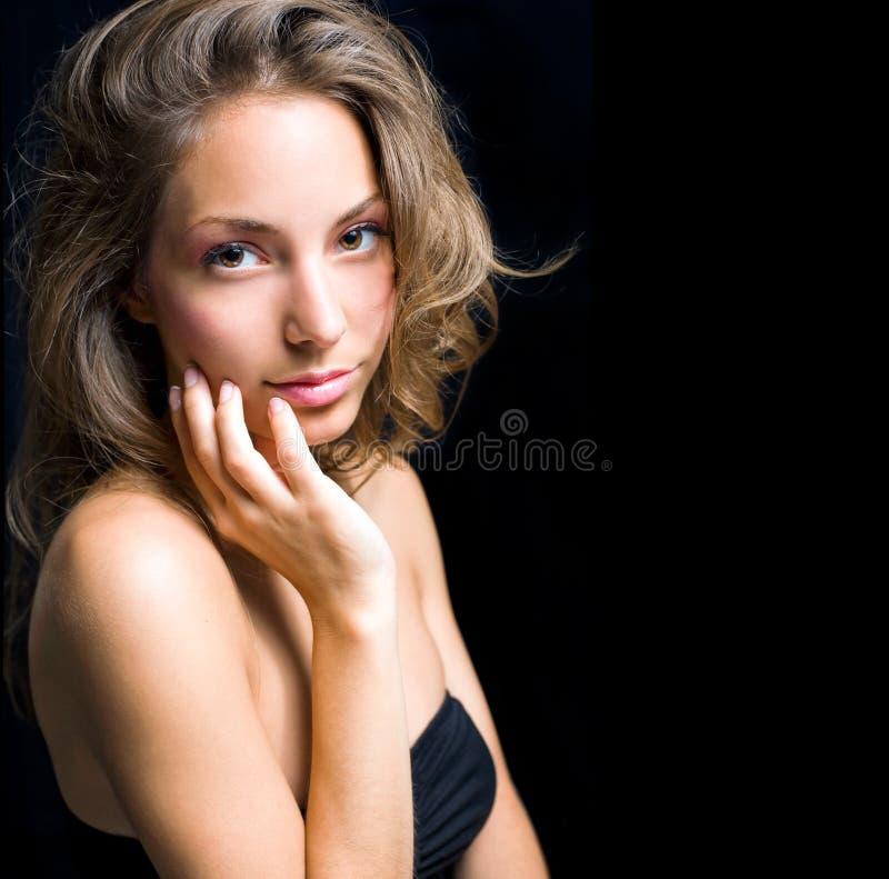 Elegant portrait of beautiful brunett royalty free stock images
