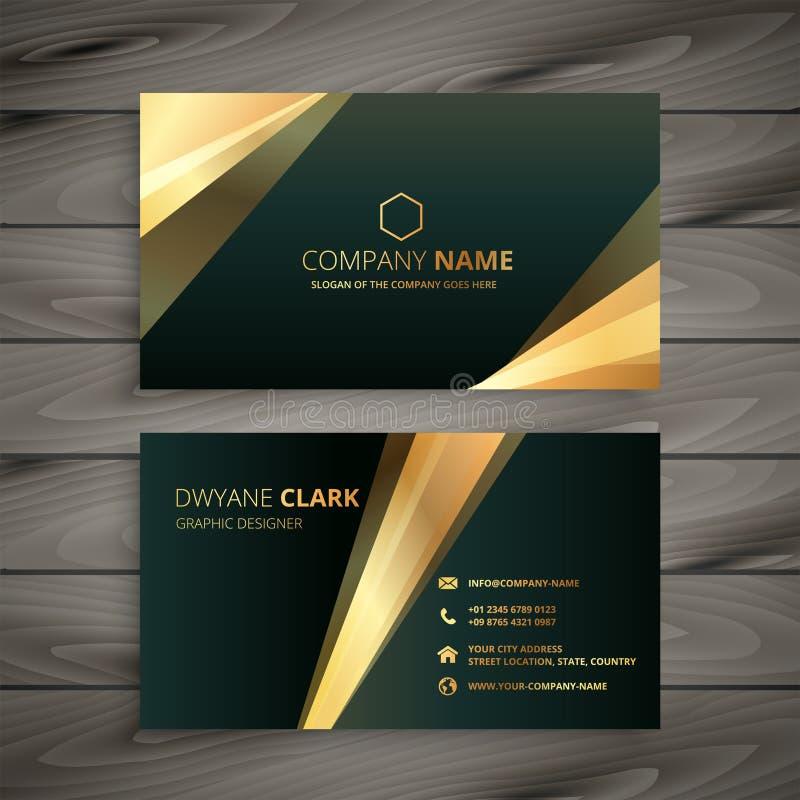 Elegant premium golden business card template stock illustration