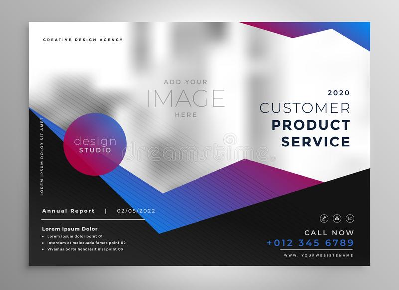 Elegant professional geometric brochure presentation template royalty free illustration