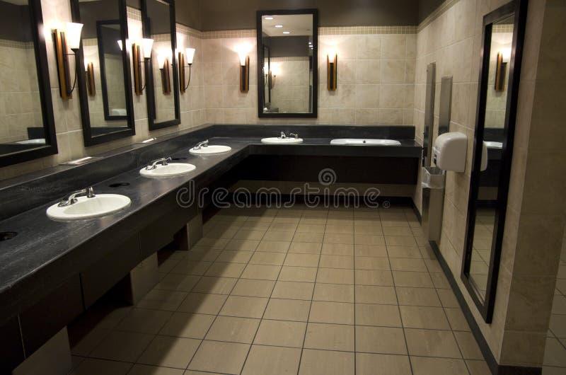 Elegant public bathroom stock photos
