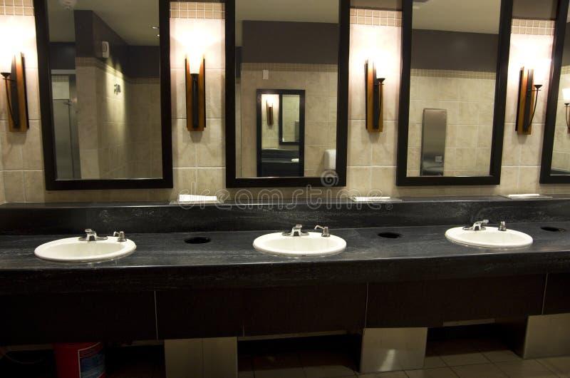 Elegant Public Bathroom Stock Photo Image Of Lighting