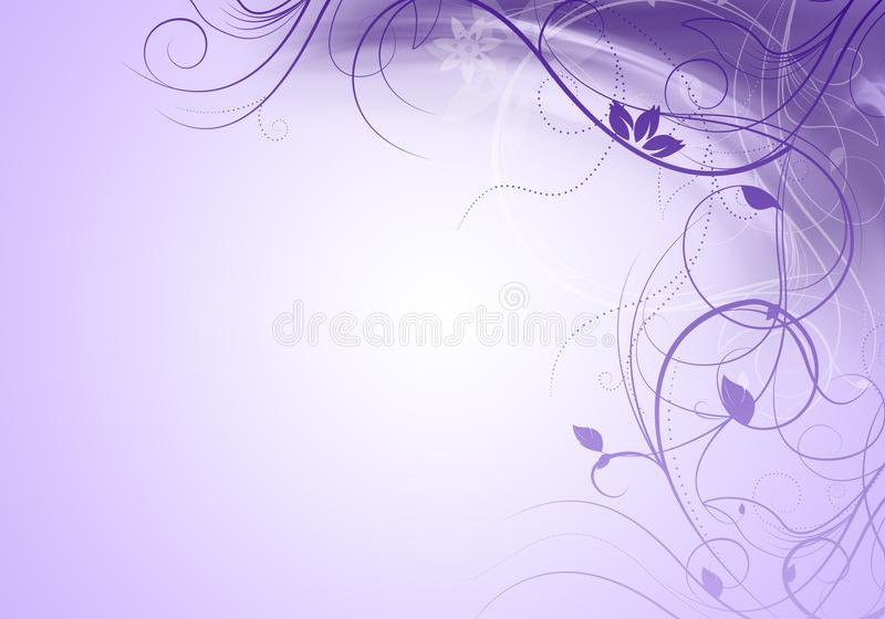 Elegant purple background with swirls and space for your text stock illustration
