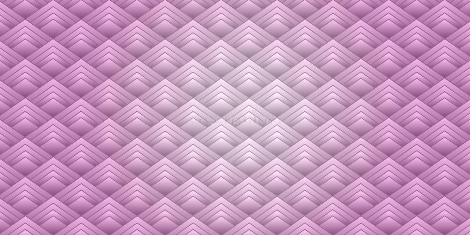 Elegant purple diamond squares geometric abstract wallpaper background illustration design. royalty free illustration