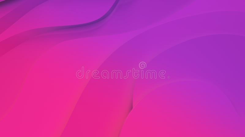 Elegant purpurf?rgad och rosa neonf?rg l?ttnad Abstrakt topografisk bakgrund H?rlig v?tskedesign kaotiska band skapar stock illustrationer