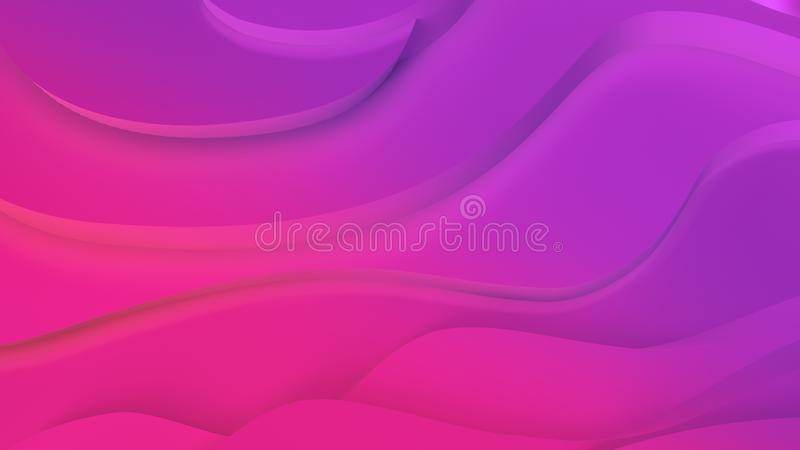 Elegant purpurf?rgad och rosa neonf?rg l?ttnad Abstrakt topografisk bakgrund H?rlig v?tskedesign kaotiska band skapar vektor illustrationer