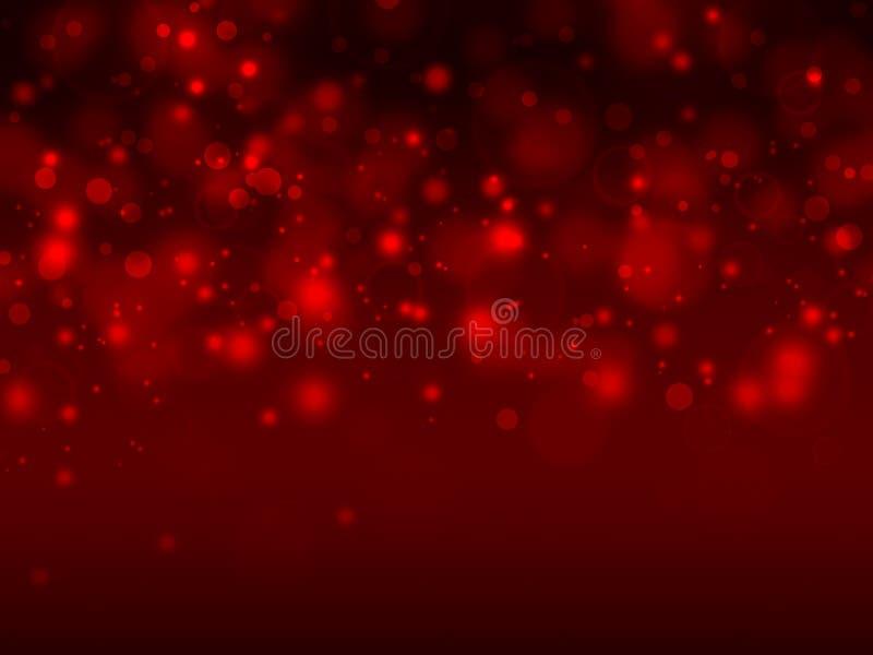 Elegant röd bokehbakgrund stock illustrationer