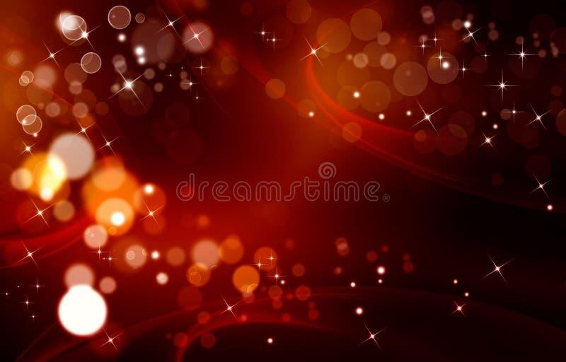 Elegant röd festlig bakgrund med stjärnor vektor illustrationer