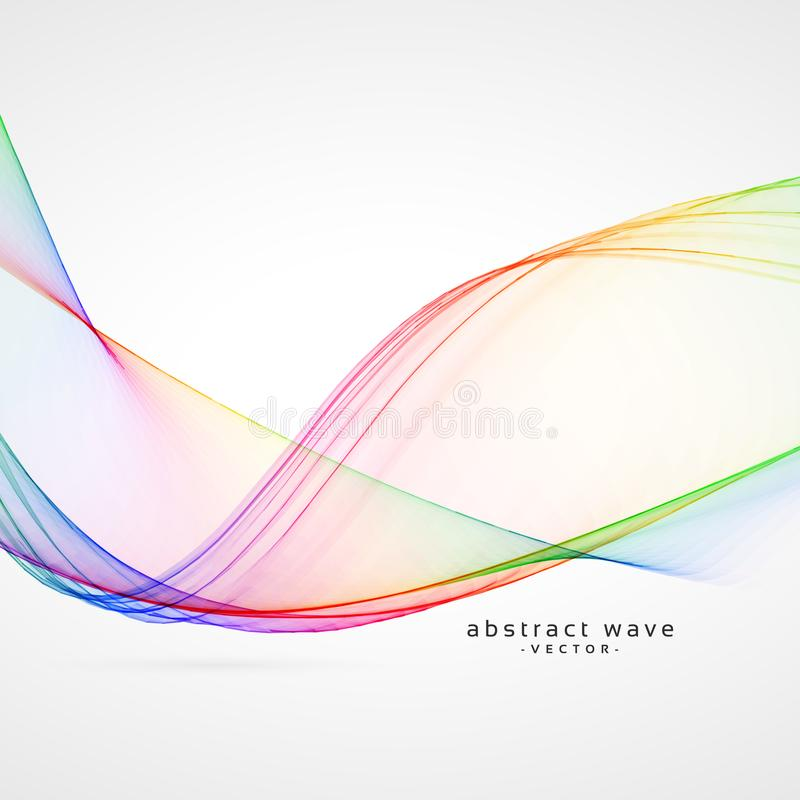 Elegant rainbow color abstract wave background vector illustration