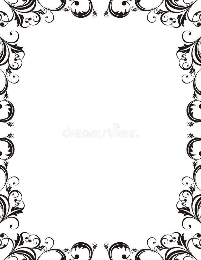 elegant ramstil royaltyfri illustrationer