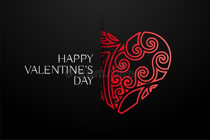 Elegant red decorative hearts background royalty free illustration