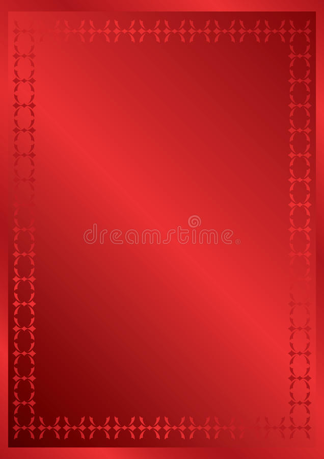 Elegant Red Frame With Decor - Vector Stock Photo