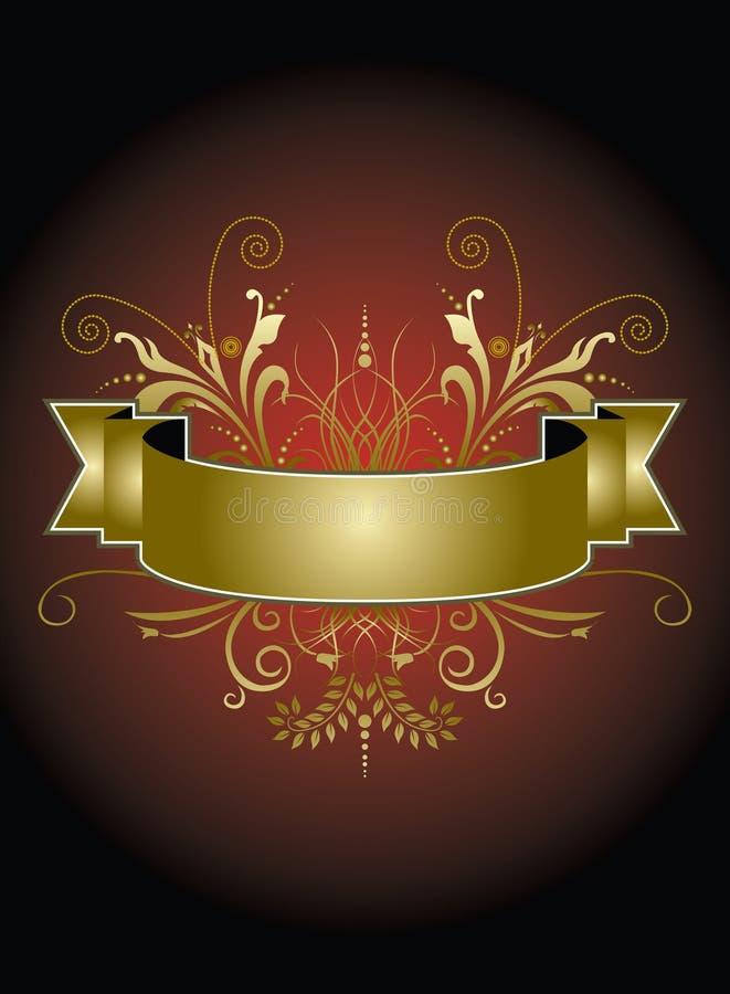 Elegant red and gold banner stock illustration