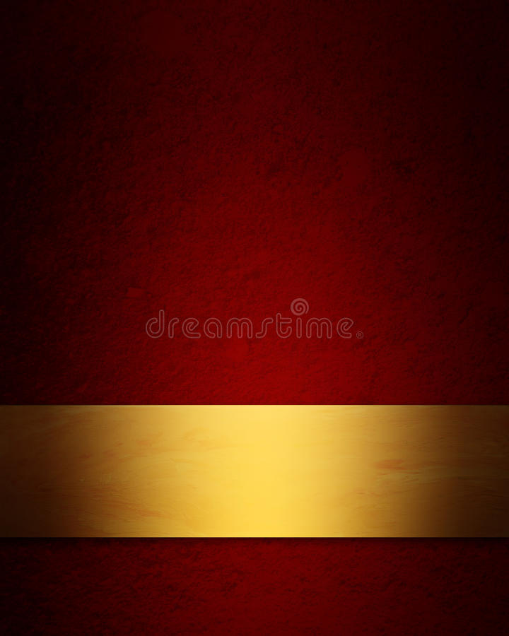 Elegant red and gold Christmas background stock illustration