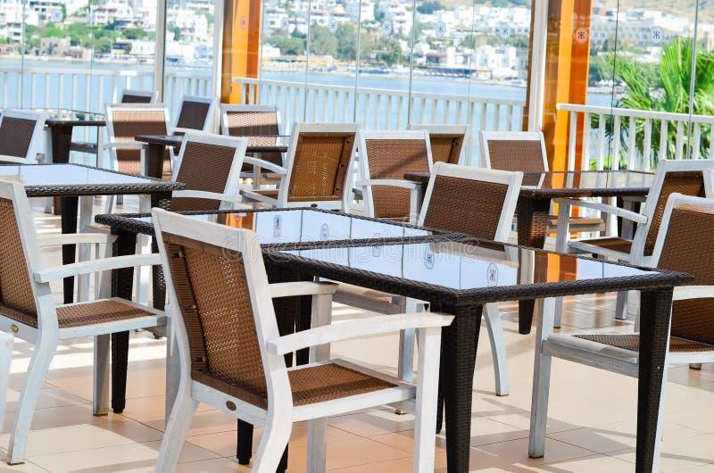 Elegant restaurant interior detail royalty free stock photography