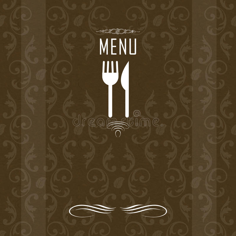 Download Elegant Restaurant Menu Design Stock Illustration