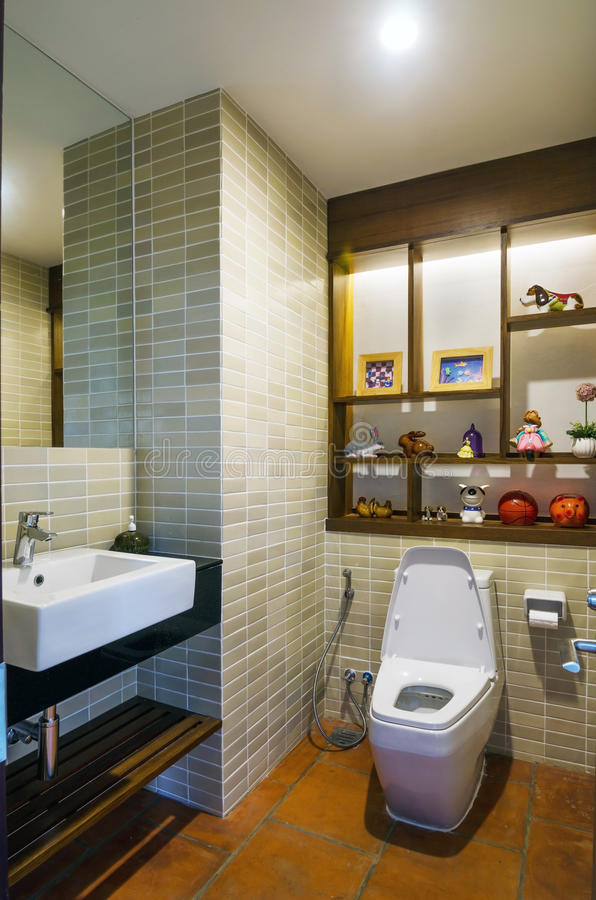 Elegant restroom royalty free stock photos
