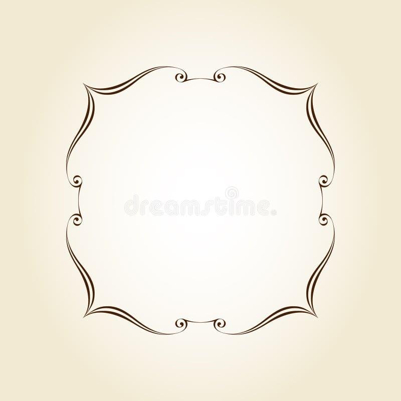 Elegant  retro frame .Vector illustration.Brown royalty free illustration
