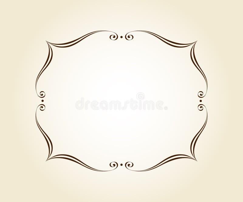 Elegant  retro frame .Vector illustration.Brown stock illustration