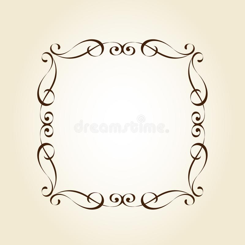 Elegant  retro frame .Vector illustration.Brown vector illustration
