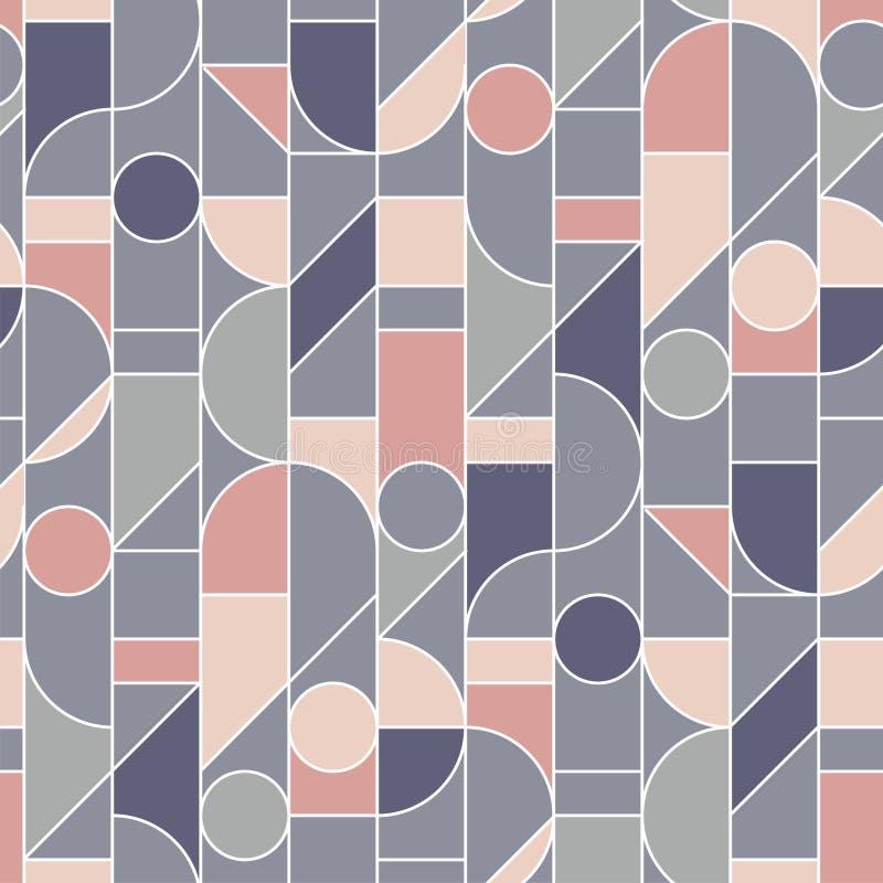 Elegant retro style rose and gray seamless pattern vector illustration